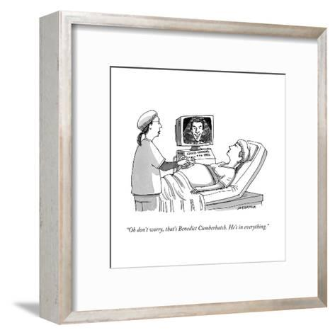 """Oh don't worry, that's Benedict Cumberbatch. He's in everything."" - Cartoon-Joe Dator-Framed Art Print"