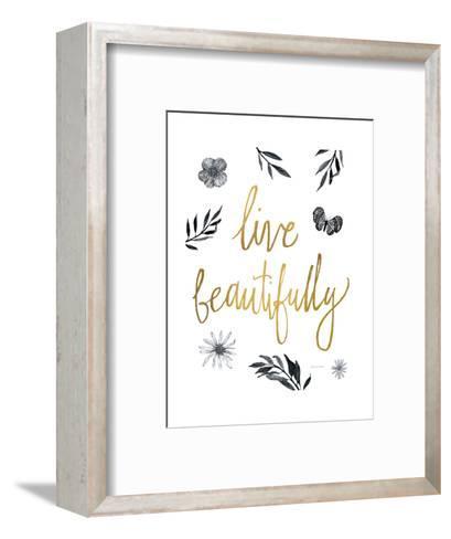 Live Beautifully BW-Sara Zieve Miller-Framed Art Print