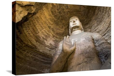 Buddha Caves, Datong, Shanxi Province, China-Paul Souders-Stretched Canvas Print