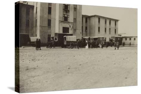 Pictures of War II: Italian Soldiers and Red Cross Ambulances in Gradisca Sagrado- Gigliucci-Stretched Canvas Print