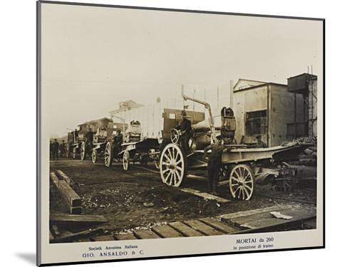 World War I: Mortai Da 260- Ansaldo-Mounted Giclee Print