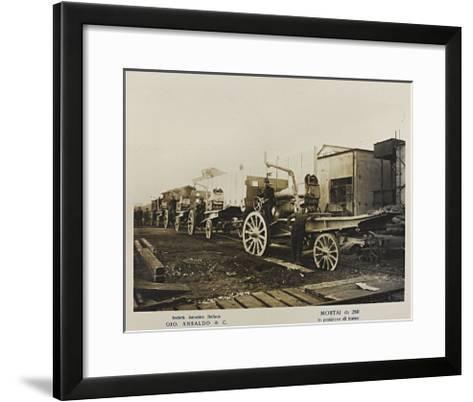 World War I: Mortai Da 260- Ansaldo-Framed Art Print