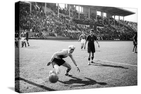 Soccer World Cup 1934: Match at the National Pnf (National Fascist Party) in Rome-Luigi Leoni-Stretched Canvas Print