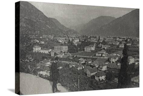 Visions of War 1915-1918: View of Trento at the End of the First World War-Vincenzo Aragozzini-Stretched Canvas Print