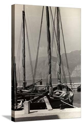 Sailboats in the Harbour of Malcesine-Otto Zenker-Stretched Canvas Print