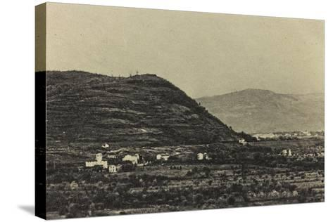 Visions of War 1915-1918: View of Mount Podgora During the First World War-Vincenzo Aragozzini-Stretched Canvas Print