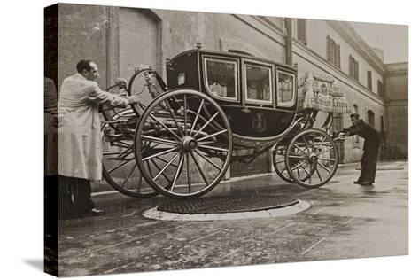 The Sedan Gala Golden of Vittorio Emanuele Ii, Built in 1878-Luigi Leoni-Stretched Canvas Print
