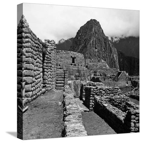 Ruins of the Houses of the Lost City of the Incas, and the Sun Temple, Machu Picchu, Peru-Pietro Ronchetti-Stretched Canvas Print