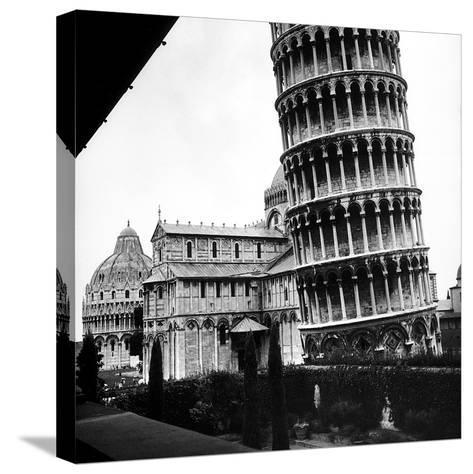 The Tower, One Arm of the Transept of the Cathedral and the Baptistry of Pisa-Pietro Ronchetti-Stretched Canvas Print