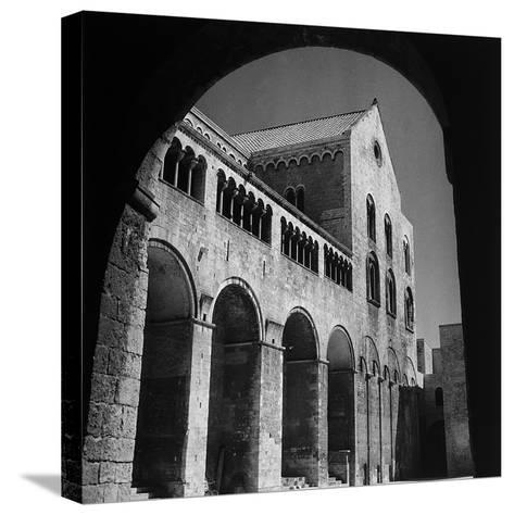The South Side of the Basilica of San Nicola in Bari-Pietro Ronchetti-Stretched Canvas Print