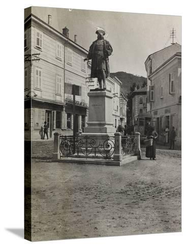 Monument to Maximilian in Plaza of Cormons During the First World War-Luigi Verdi-Stretched Canvas Print