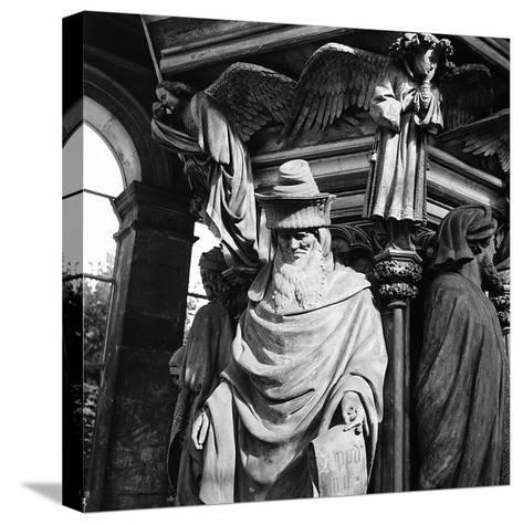 Statue of Moses, for the Well of Moses, Located in the Cloister of the Charterhouse of Champmol-Pietro Ronchetti-Stretched Canvas Print