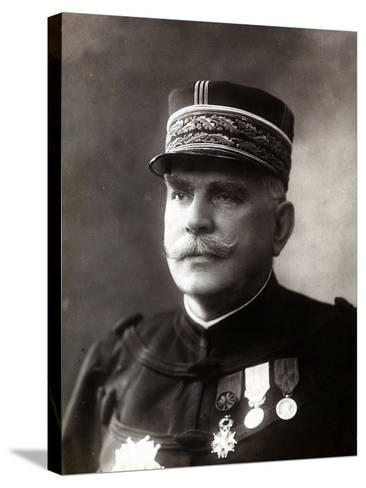 Portrait of the Gen. Joffre, Senior Officer of the French Army--Stretched Canvas Print