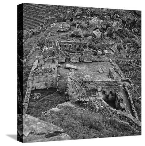Ruins of the Lost City of the Incas Seen from Above, Machu Picchu, Peru-Pietro Ronchetti-Stretched Canvas Print