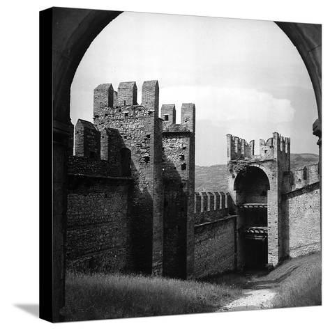View of the City Walls of Soave-Pietro Ronchetti-Stretched Canvas Print