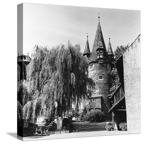 The Evocative Medieval Tower Diebsturm (Tower of Thieves) in Lindau, Baveria-Pietro Ronchetti-Stretched Canvas Print