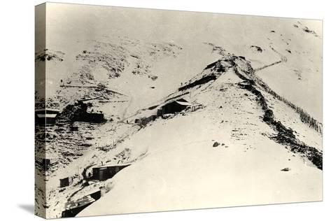 Trenches and Fences on the Slopes of Monte Nero During World War I-Ugo Ojetti-Stretched Canvas Print