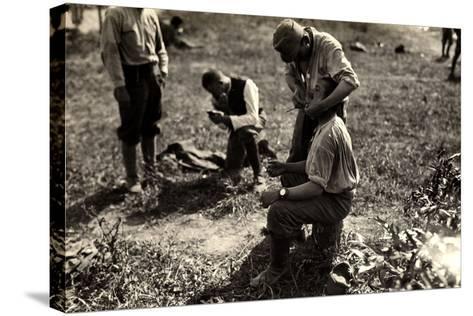 Austrian Prisoners During World War I in Bagnaria Arsa-Ugo Ojetti-Stretched Canvas Print