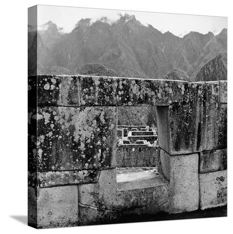 Ruins of the Lost City of the Incas, Seen from an Opening in the Wall-Pietro Ronchetti-Stretched Canvas Print