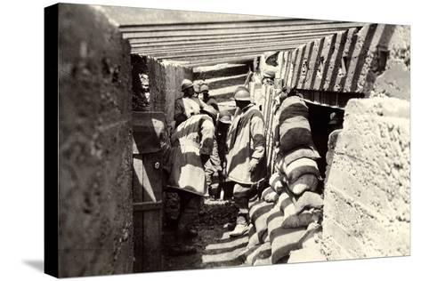 New Italian Trenches, after the Advance into Austrian Territory on the Outskirts of Selz-Ugo Ojetti-Stretched Canvas Print