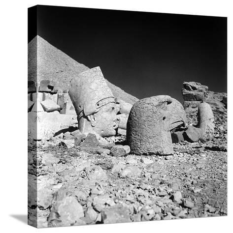 Head of a God and Head of an Eagle, Remains of the Temple of Antiochus I-Pietro Ronchetti-Stretched Canvas Print