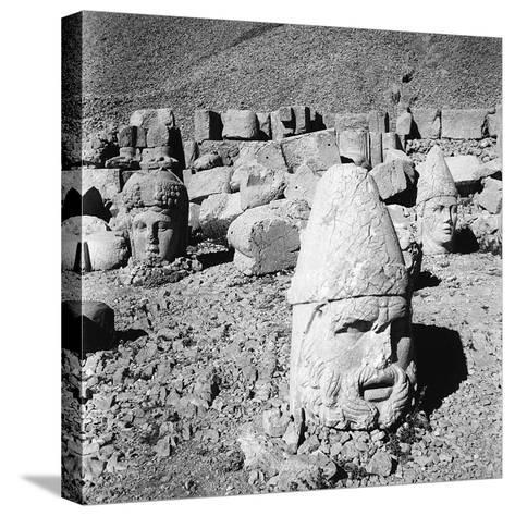 Heads of the Gods, Remains of the Colossal Statues from the Tomb of Antiochus I-Pietro Ronchetti-Stretched Canvas Print