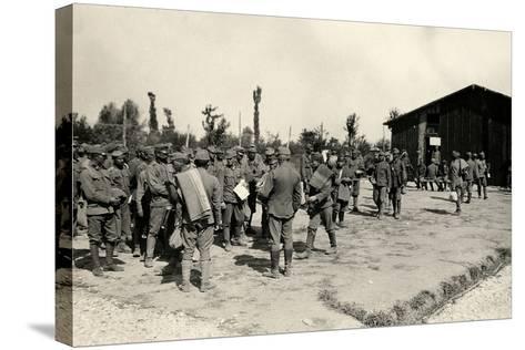 Encampment of Austrian Prisoners in Bagnaria Arsa-Ugo Ojetti-Stretched Canvas Print