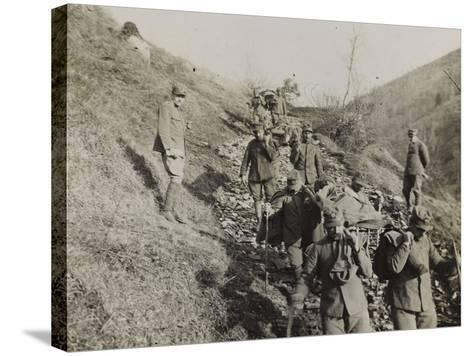 Soldiers of the Section of Health Engaged in the Evacuation of the Wounded During the WWI-Luigi Verdi-Stretched Canvas Print