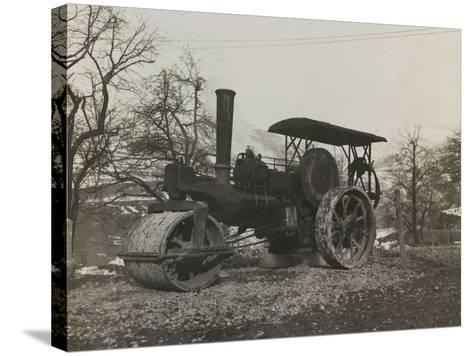 Compressor of the Italian Army During the First World War-Luigi Verdi-Stretched Canvas Print