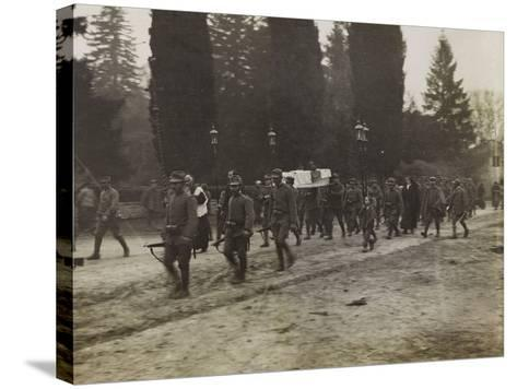 Military Funeral in Soleschiano During the First World War-Luigi Verdi-Stretched Canvas Print