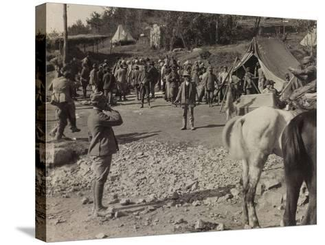Soldiers of the Section of Subsistence During the First World War-Luigi Verdi-Stretched Canvas Print