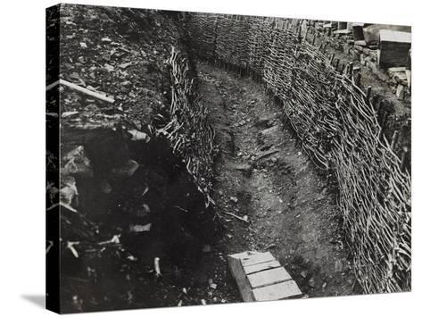 Trench Construction During the First World War-Luigi Verdi-Stretched Canvas Print