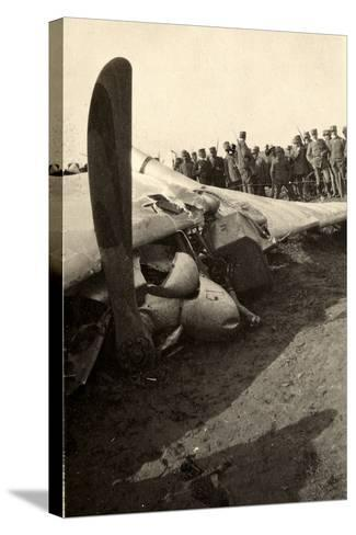 Detail of a Fallen Austrian Airplane in Friuli During World War I-Ugo Ojetti-Stretched Canvas Print