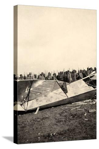 Wreckage of a Fallen Austrian Airplane in Friuli During World War I-Ugo Ojetti-Stretched Canvas Print