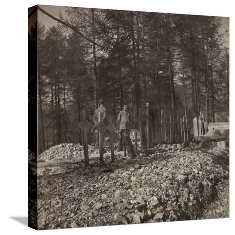 Pictures of War II: Italian Soldiers in the Cemetery of the Belvedere Pocol--Stretched Canvas Print