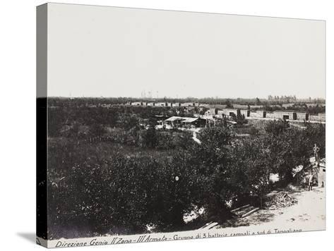 Leadership Corps of Engineers 2nd Area 3rd Army, Group of Three Field Batteries South of Tapoglaino--Stretched Canvas Print