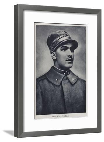 Portrait of Damiano Chiesa--Framed Art Print
