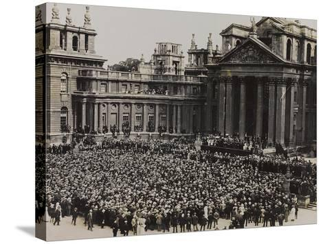 World War I: Crowd Attends an Official Event at Blenheim Palace in Woodstock--Stretched Canvas Print