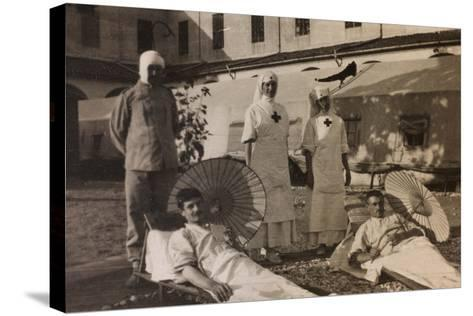 Pictures of War II: Red Cross Nurses Treating Wounded Soldiers with the Sun Therapy, Vicenza--Stretched Canvas Print