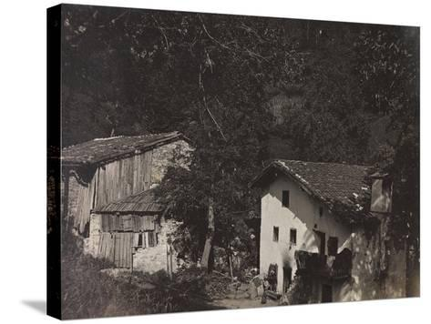 Free State of Verhovac-July 1916: Houses in Ghialloz--Stretched Canvas Print
