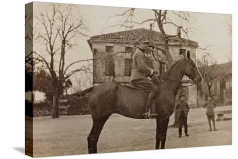 Campagna Di Guerra 1915-1916-1917-1918: Soldier on Horseback--Stretched Canvas Print