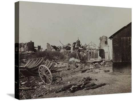 Sugar Factory in Berry-Au-Bac Destroyed by Bombing During World War I--Stretched Canvas Print