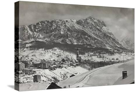 View of Cortina D Ampezzo--Stretched Canvas Print
