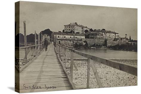 View of Gradisca on the River Isonzo--Stretched Canvas Print