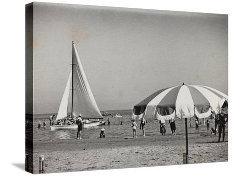 Viaggi Italadria- Rimini: Rimini-Riccione-Cattolica, the Beach--Stretched Canvas Print
