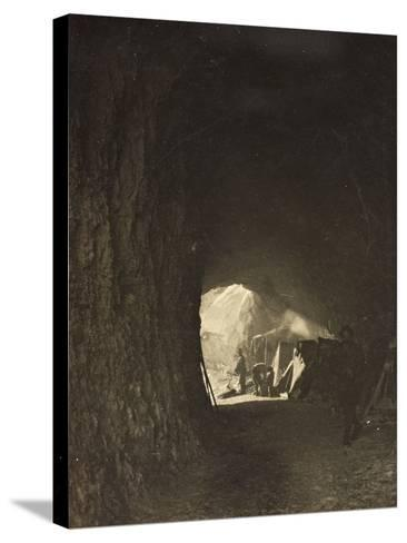 World War I: A Small Tunnel in the Rock on the Road Fork Bois--Stretched Canvas Print
