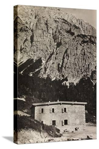 Free State of Verhovac-July 1916: Military Shelter on Mount Vualt--Stretched Canvas Print