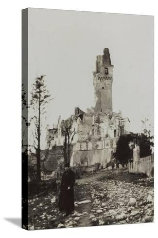 Harriet Self Photographed in the Rubble of the Castle of San Salvatore in Susegana--Stretched Canvas Print