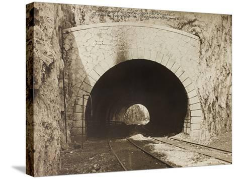 Leadership Corps of Engineers 2nd Area 3rd Army, Railway Tunnel Is in the Fogliano - Sagrado--Stretched Canvas Print