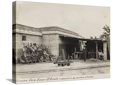 Leadership Corps of Engineers 2nd Area 3rd Army, Laboratory Carters (Wagons) in Perteole--Stretched Canvas Print